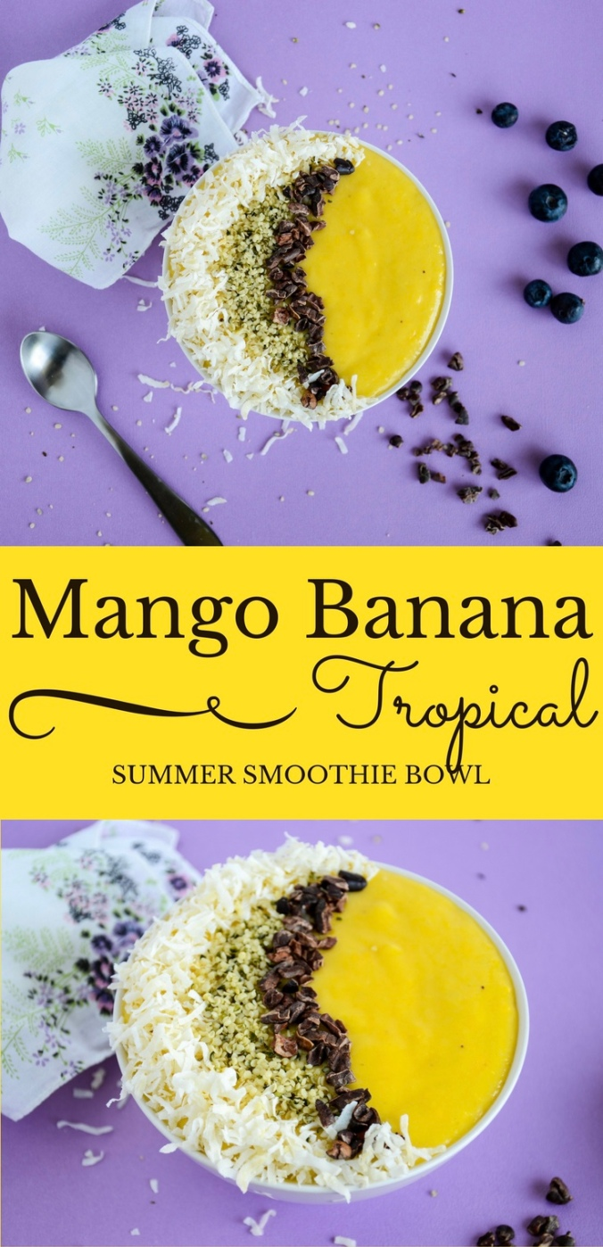 Mango Banana Tropical Summer Smoothie