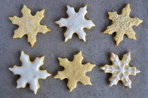 vegan sugar snowflake cookies